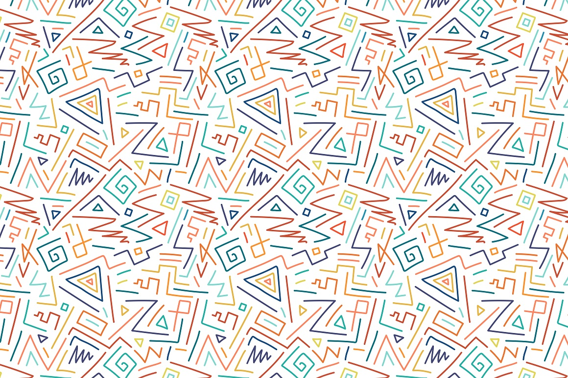 Colorful seamless patterns. example image 9