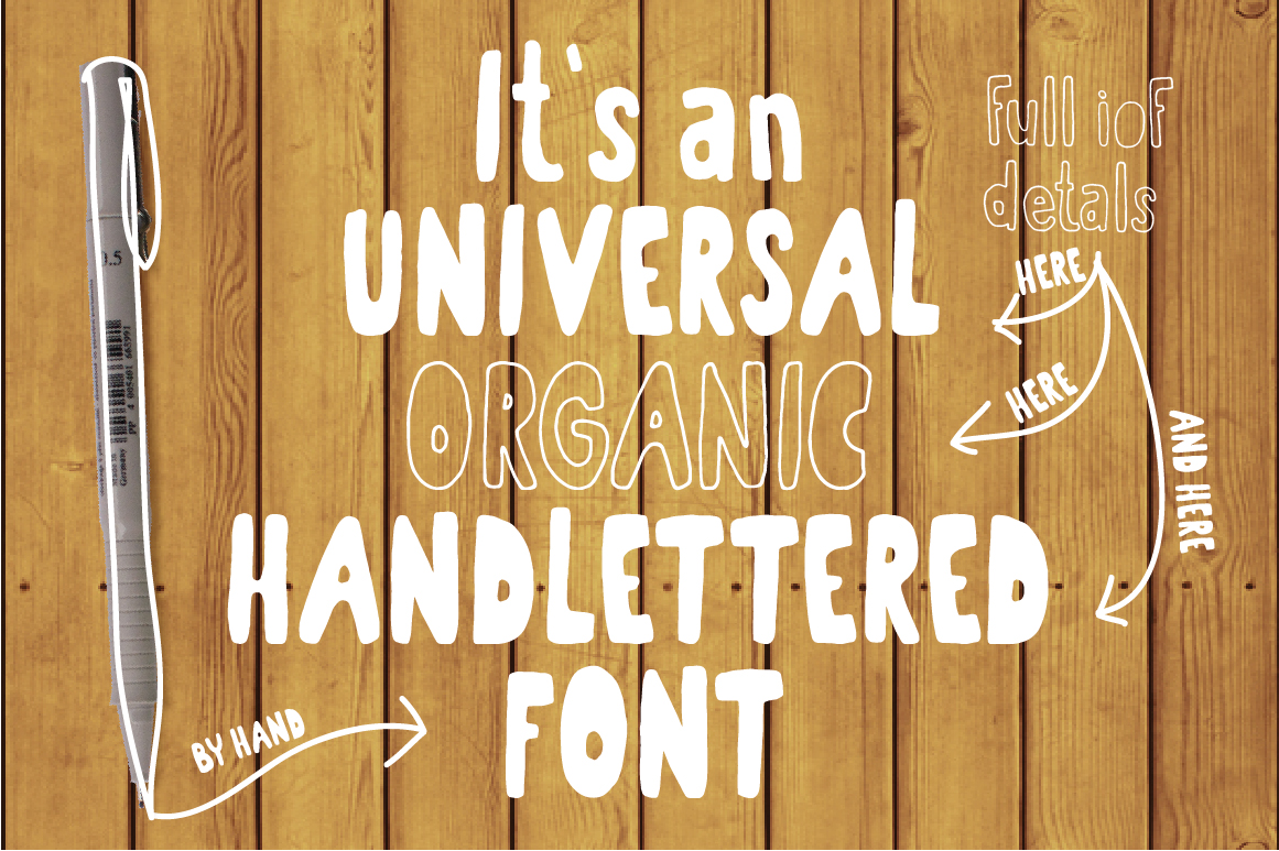 Organic the healthiest font family. example image 4
