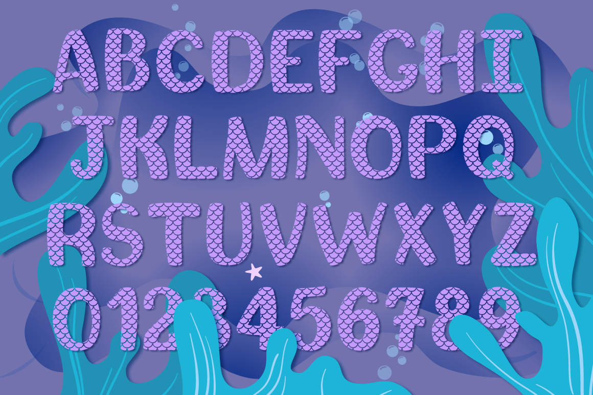 Mermaid Story & Mermaid Scales Font Duo | Mermaid Font example image 4