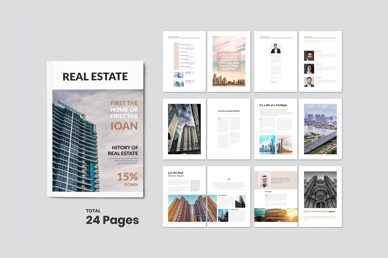 Real Estate Minimal Magazine Template example image 2