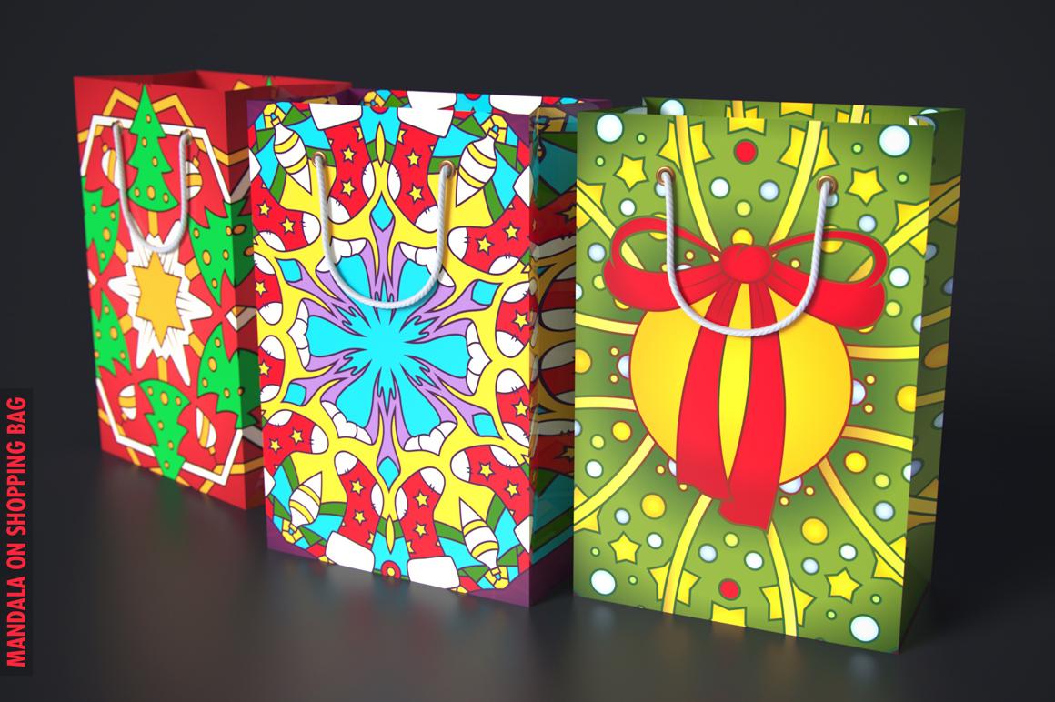 100 Christmas Mandala Ornaments example image 3