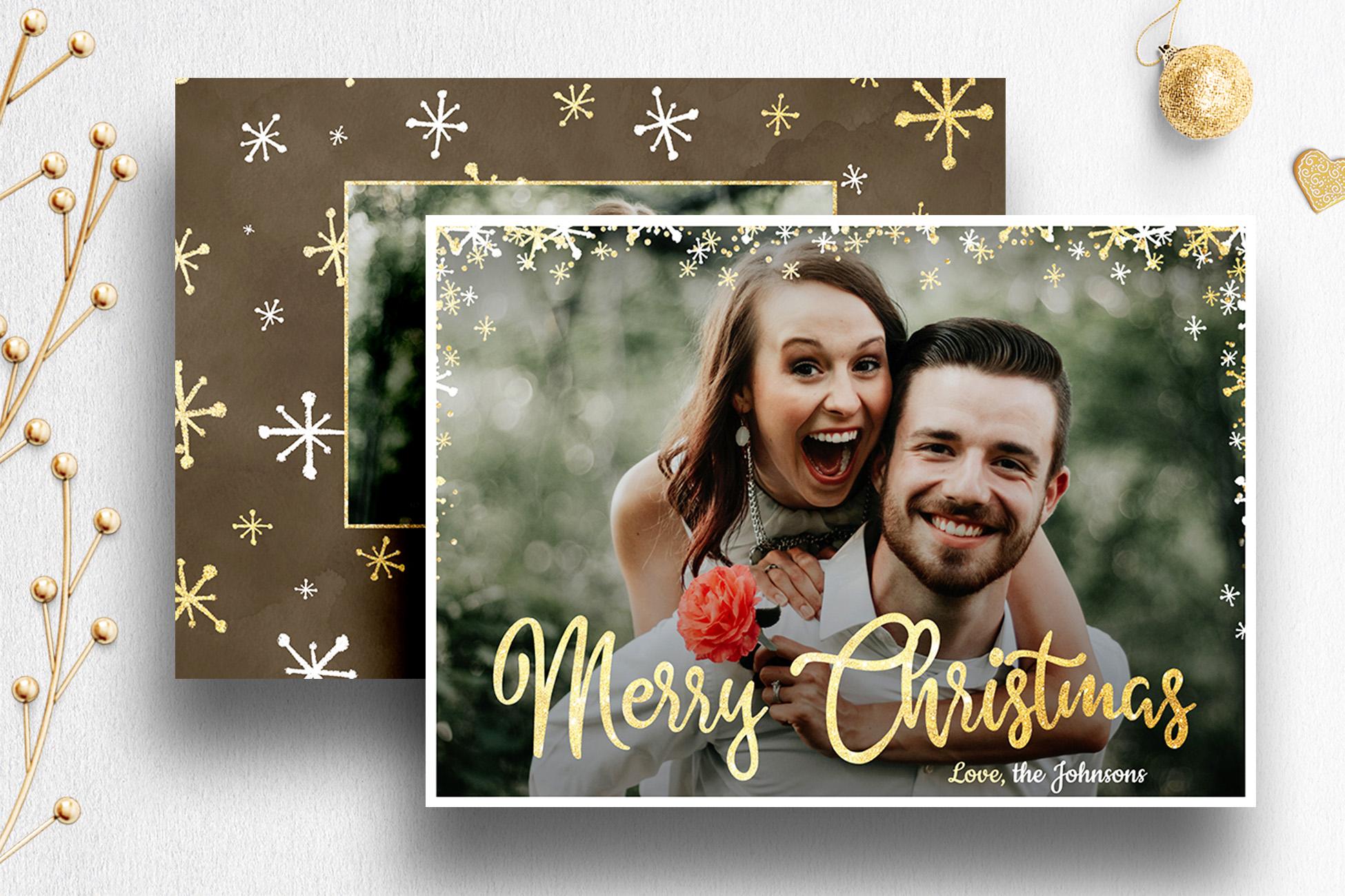 Christmas Card Photoshop Template for Photog | 007