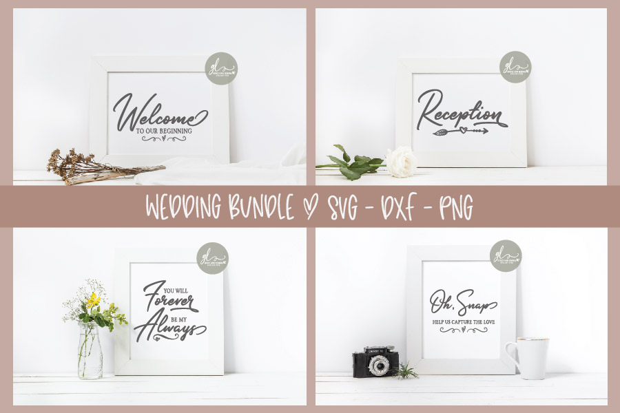 Huge Wedding Sign SVG Bundle - 25 Designs - SVG, DXF & PNG example image 5
