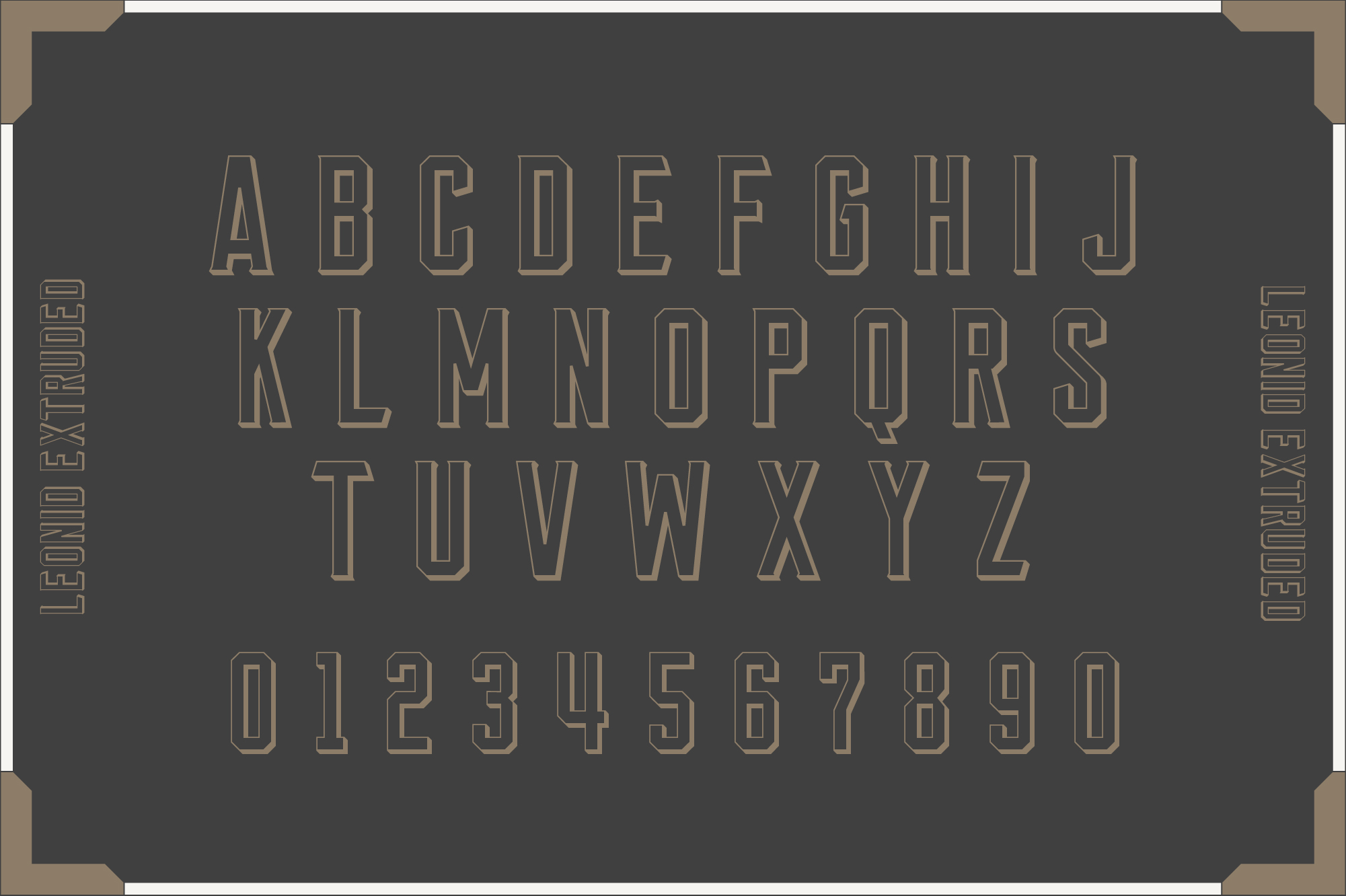 Leonid Retro Layered Font Pack example image 6