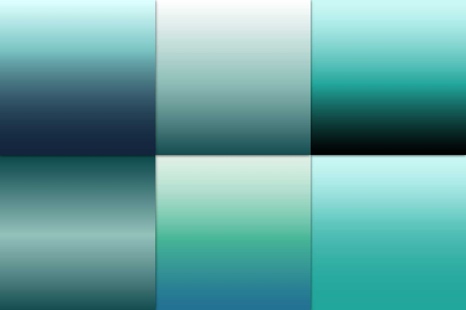 Ombre Teal Digital Paper example image 4