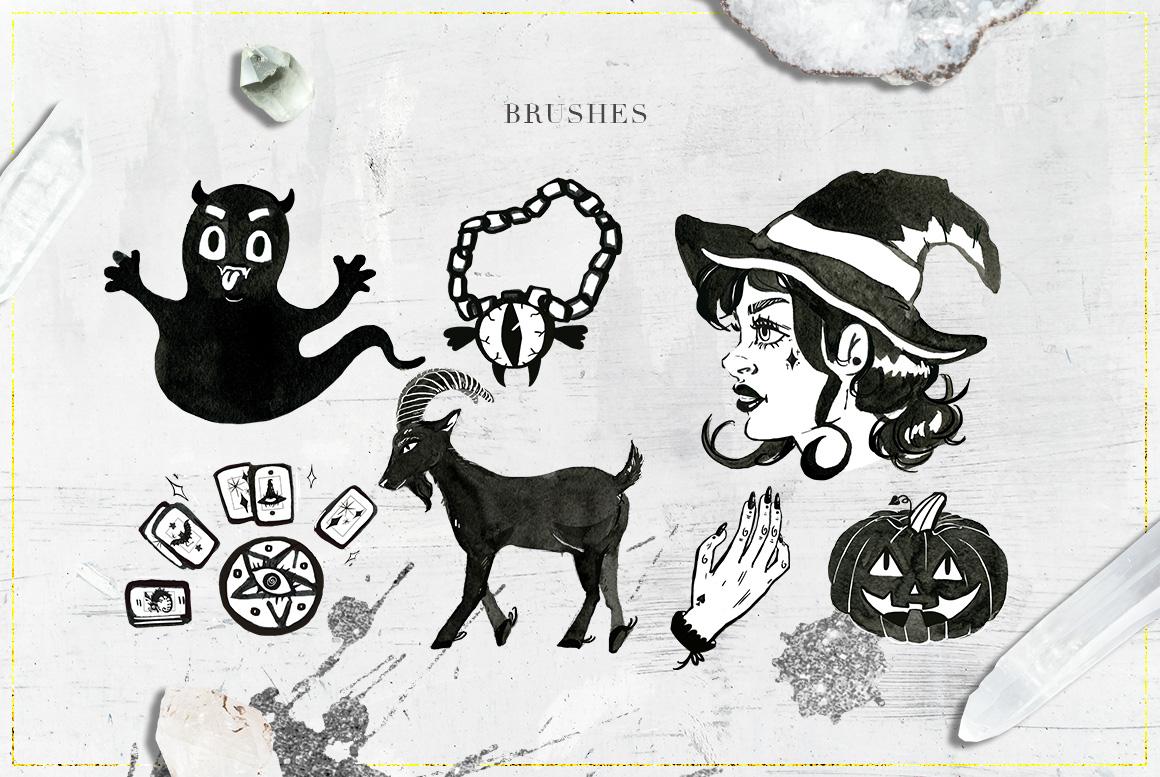 75 Witchcraft Photoshop Brushes example image 6