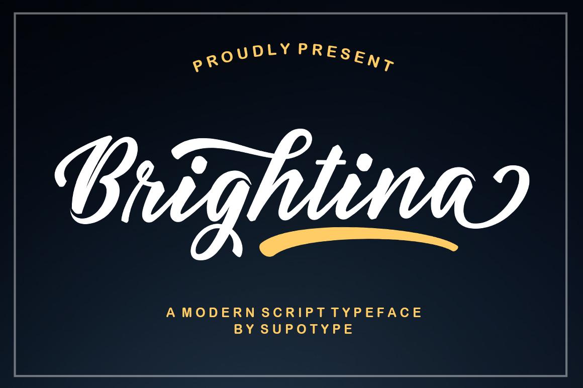 Brightina Script example image 1