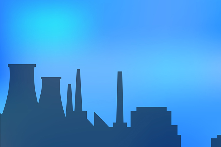 Landscape urban silhouette on a colorful background example image 1