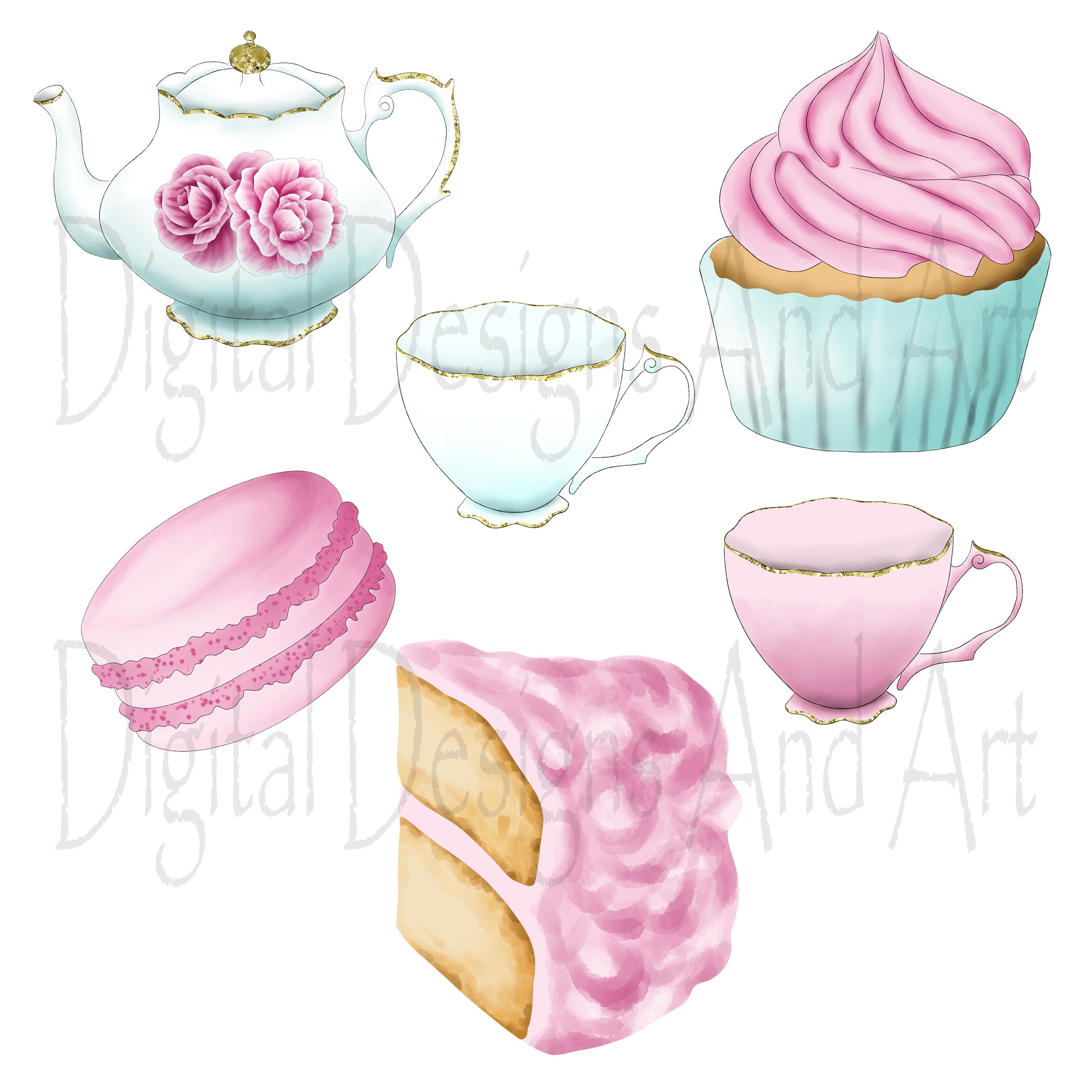 Afternoon tea clipart example image 2