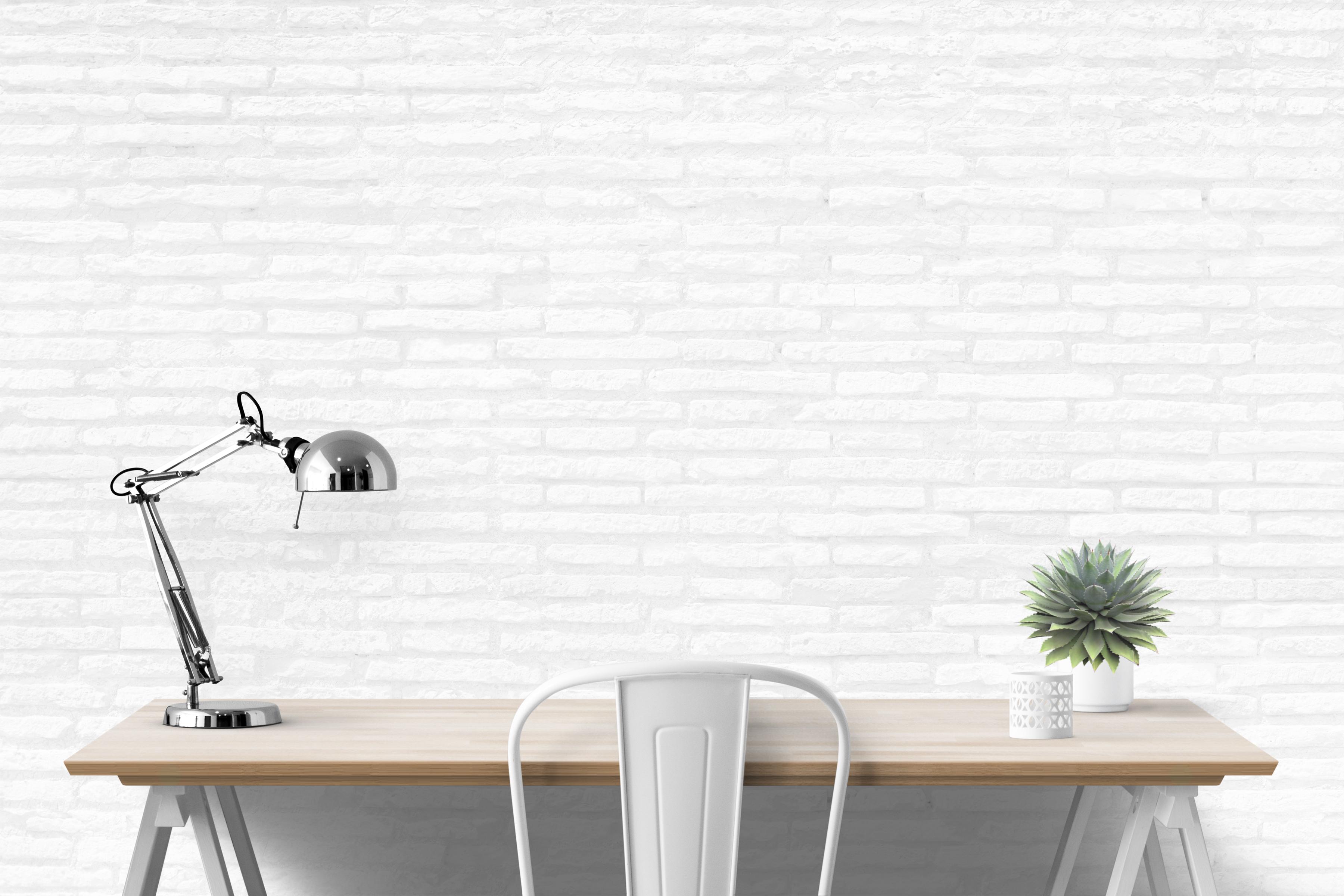wall mockup, interior wall, desk mockup, blank wall mockup example image 4