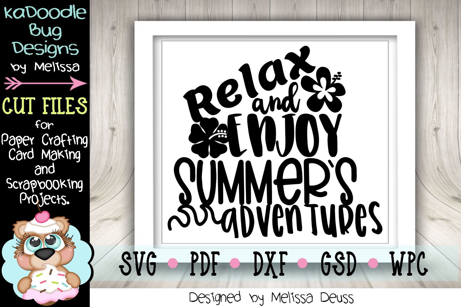 Relax and Enjoy Summer's Adventures Cut File - SVG PDF DXF example image 3