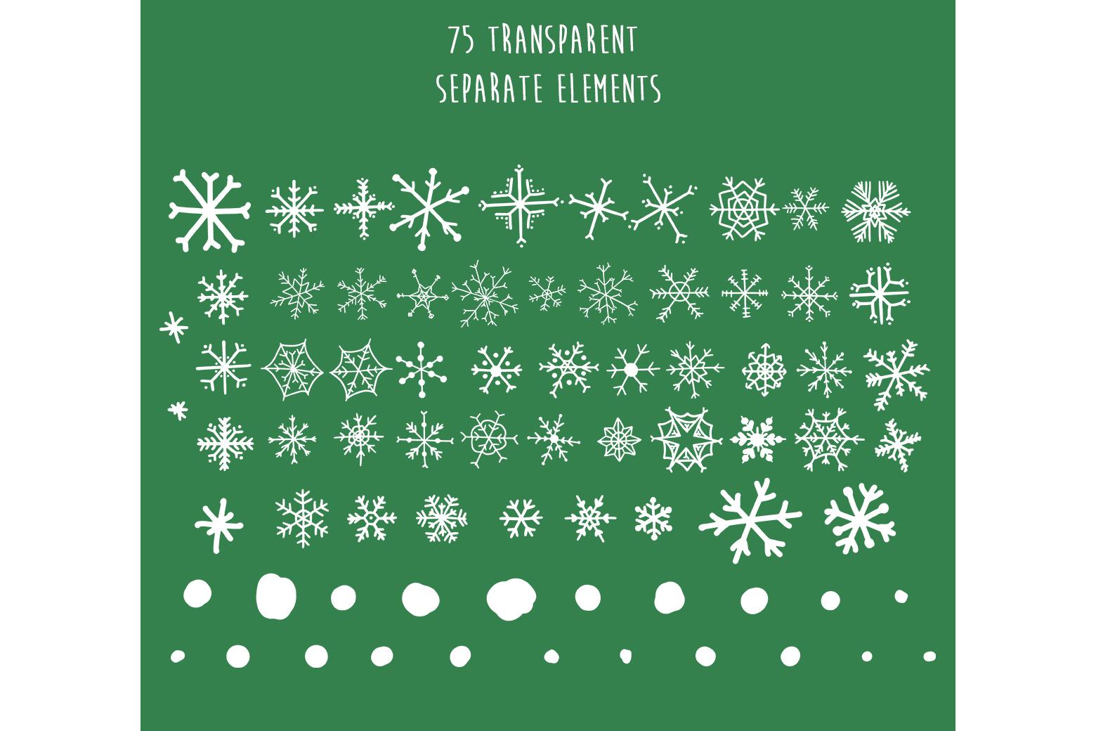 Christmas snowflakes example image 3