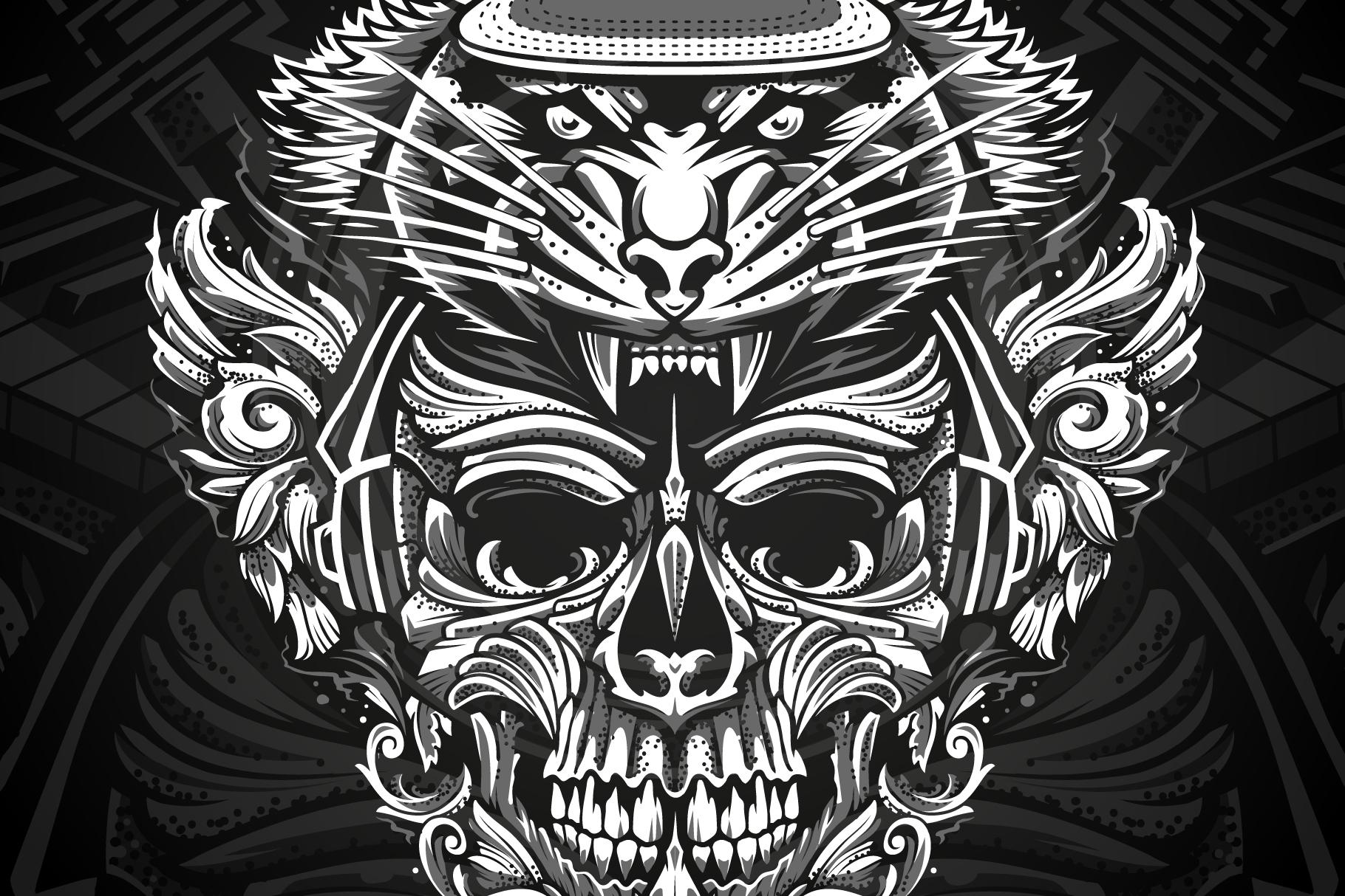 Brutal Musical Print Design | Vector example image 1