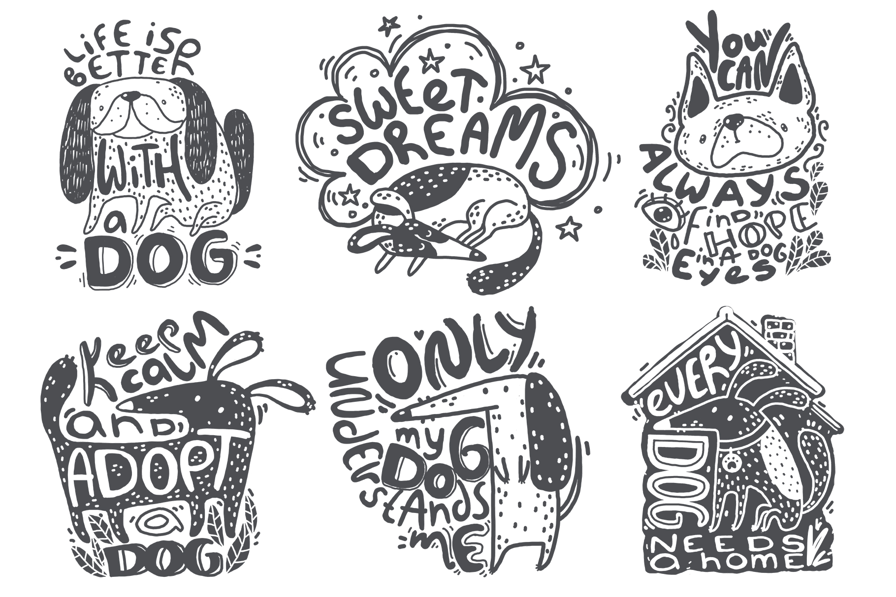 Hand drawn lettering bundle example image 2
