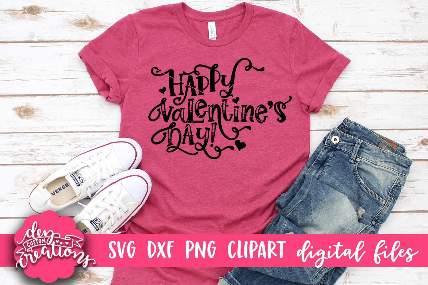 Happy Valentine's Day - SVG DXF PNG - Digital Craft File example image 2