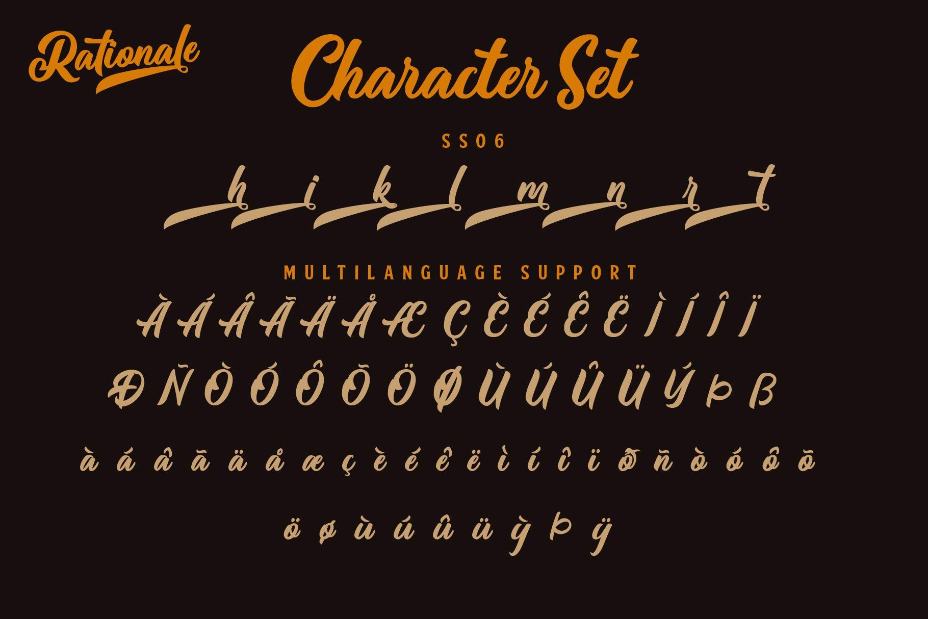 Rationale Vintage Script Font example image 9