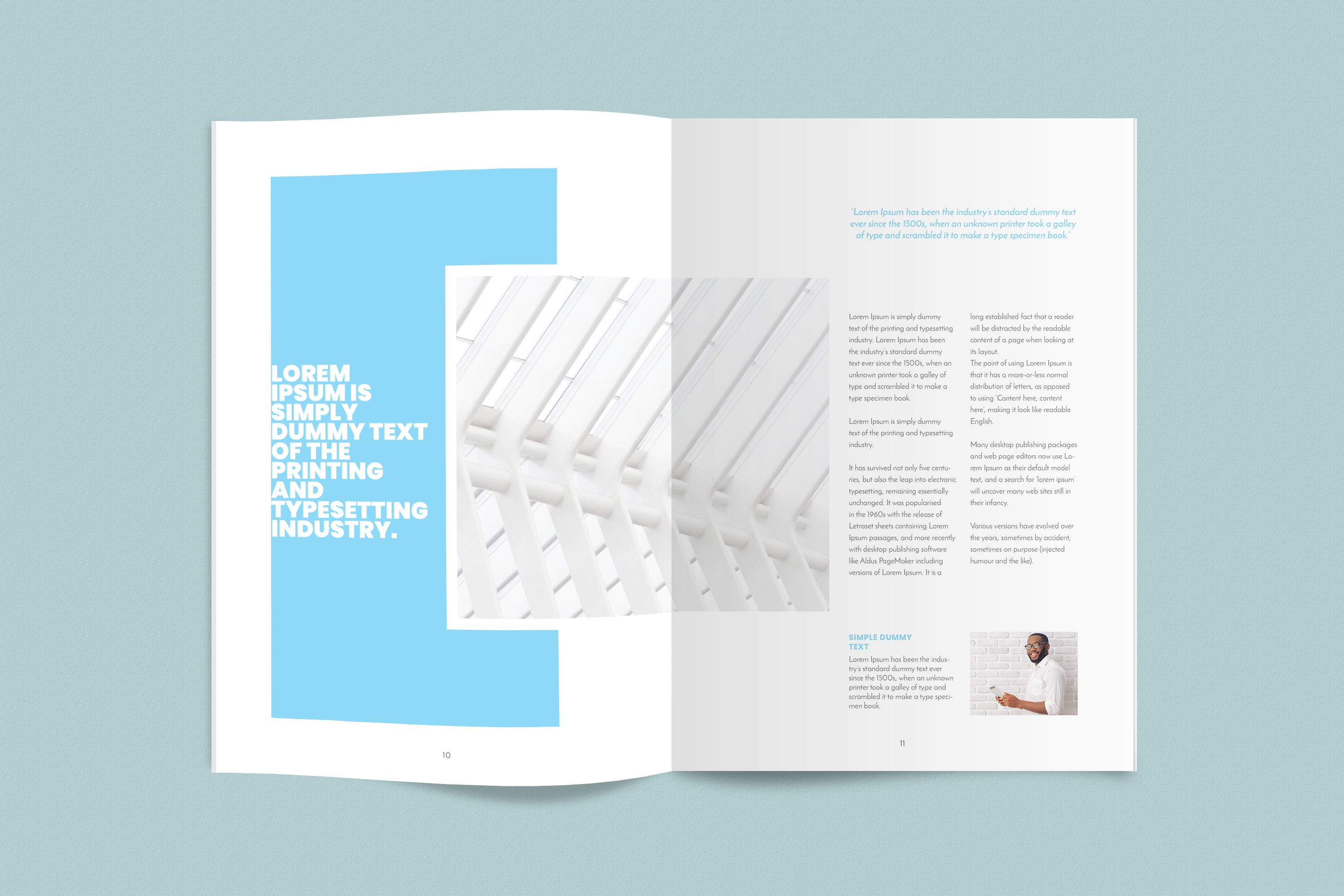 InDesign NANO Magazine Template example image 6