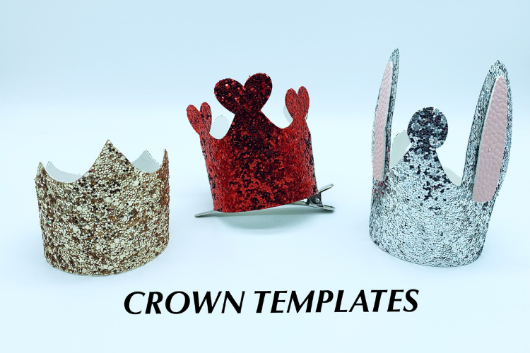 Crowns - clip in hair accessories - hair bow templates - diy example image 2