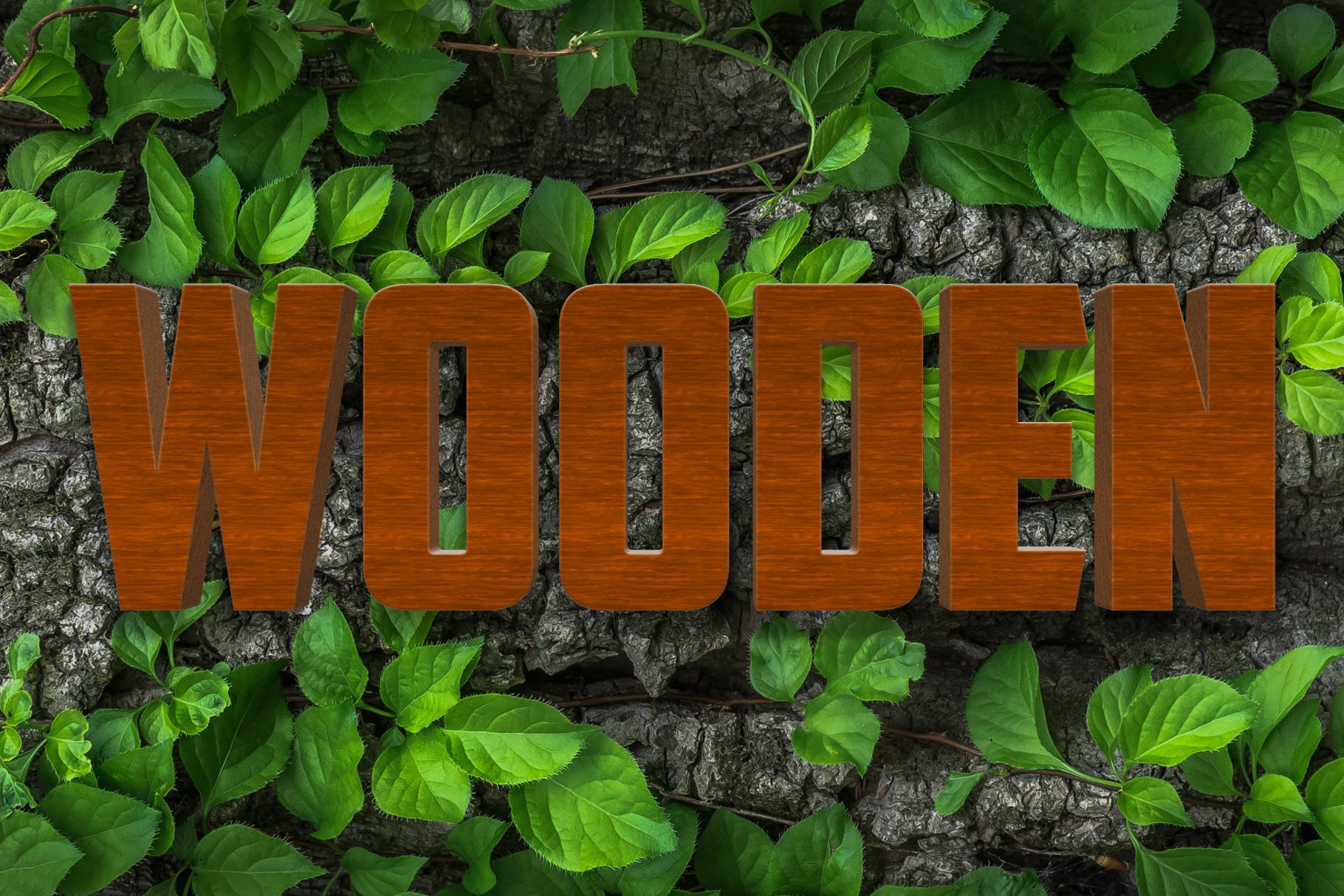 10 Wood Style for Photoshop example image 3
