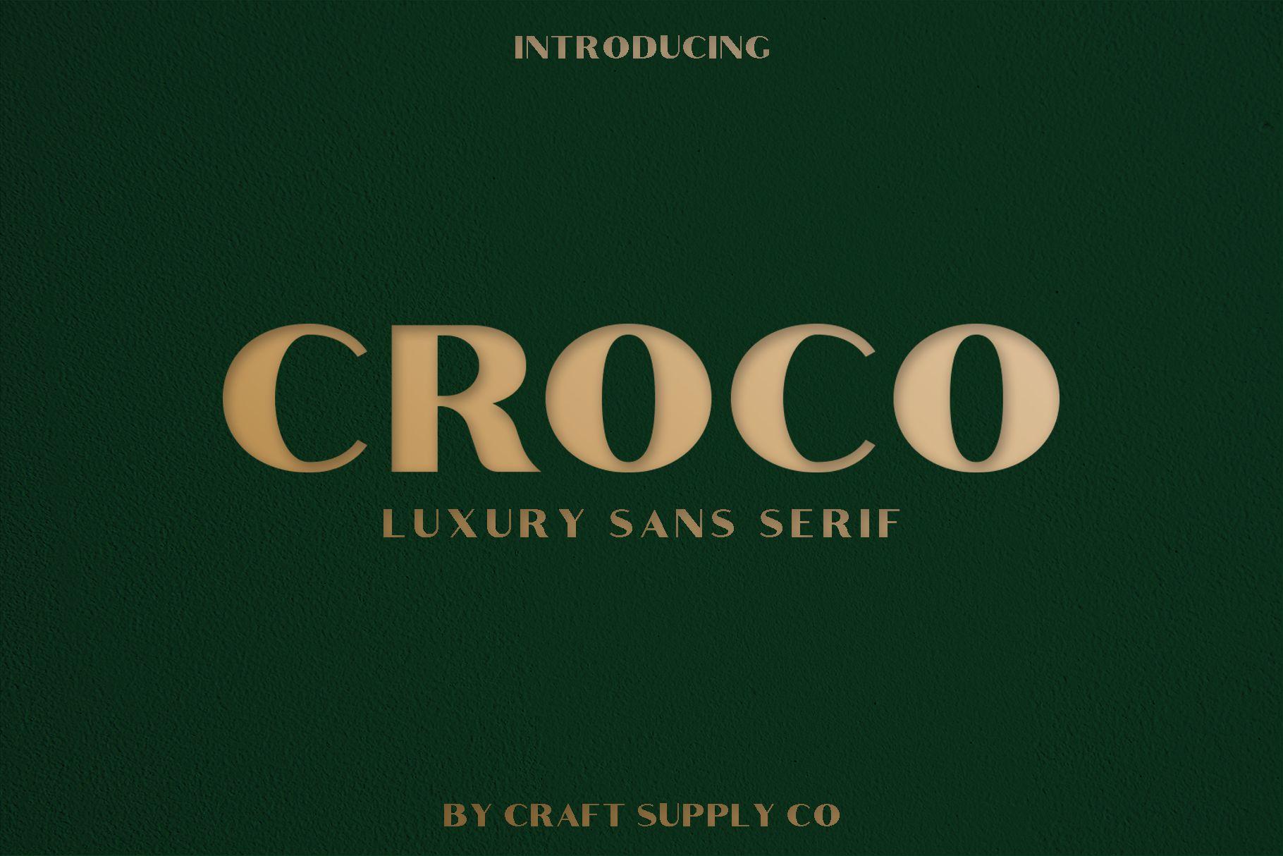 Croco - Luxury Sans Serif Font example image 2