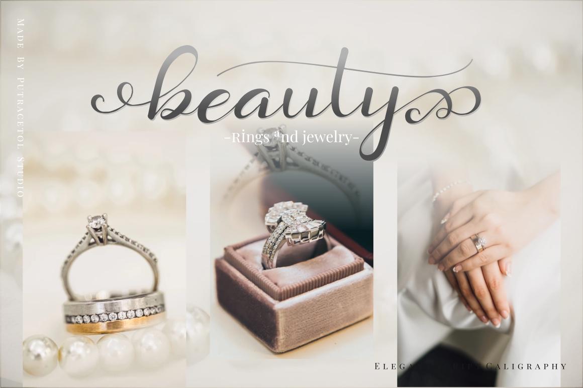 Daysha - Wedding Font example image 6