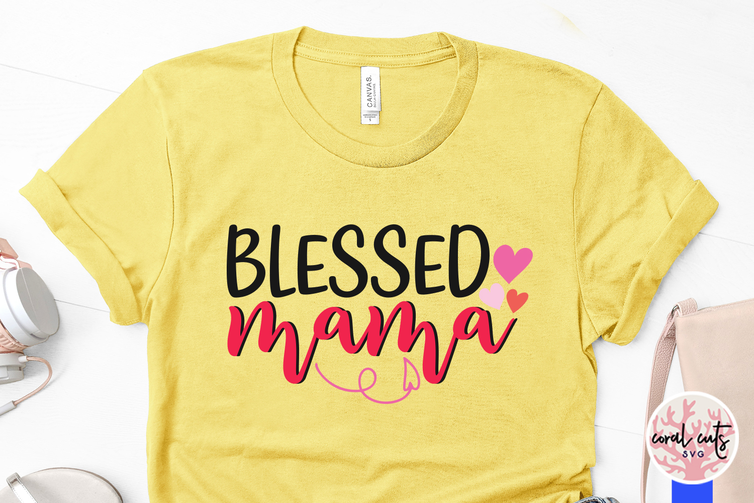 Blessed mama - Mother SVG EPS DXF PNG File example image 3