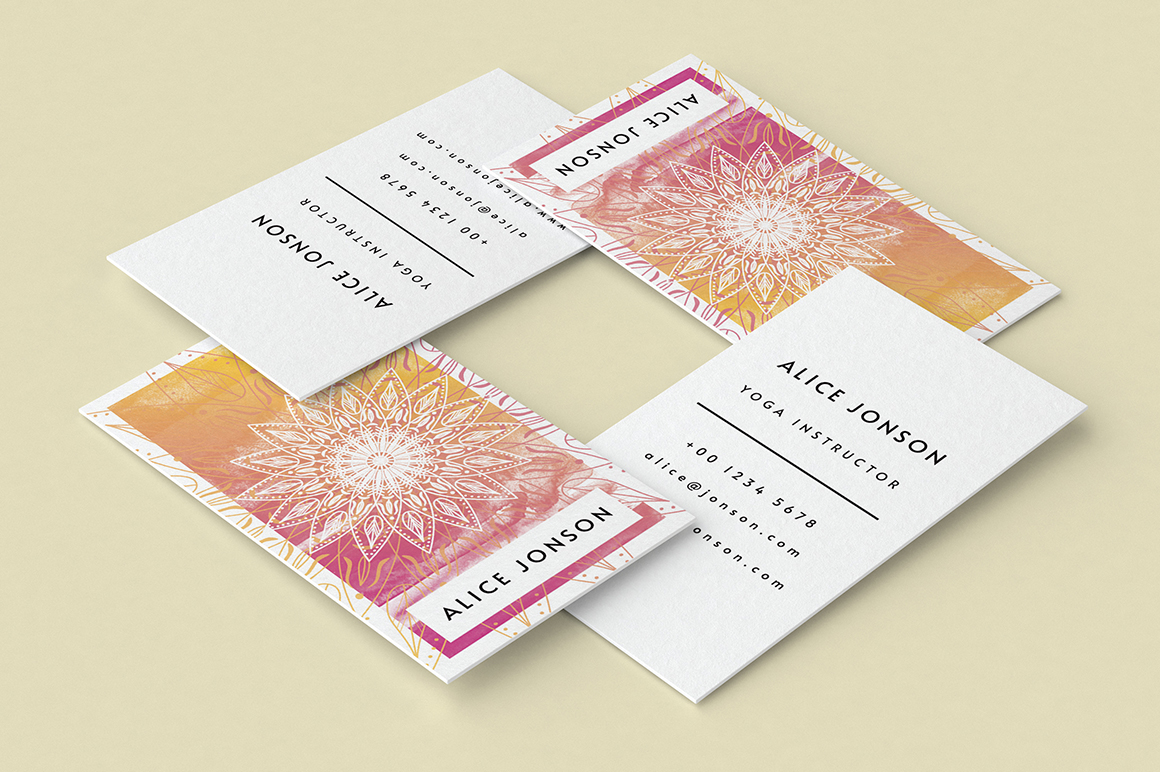 Mandala Business Card Template example image 5