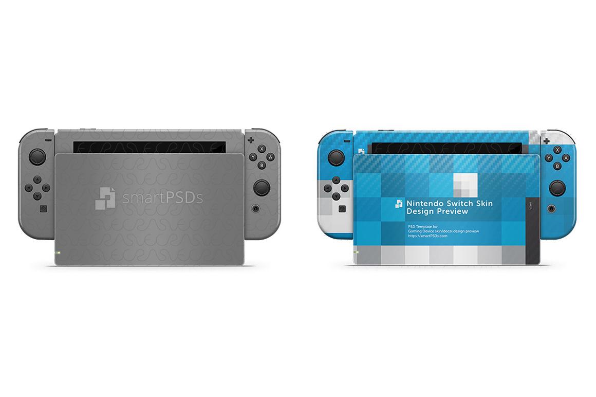 Nintendo Switch Skin Design Template- 7 Views example image 3