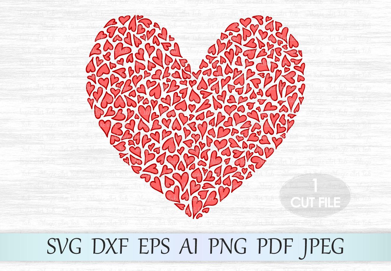 Heart Svg, Heart clipart, Heart print svg, Love svg, Wedding Svg, Valentine heart svg, Valentine design svg, Valentine svg, Valentines day example image 1