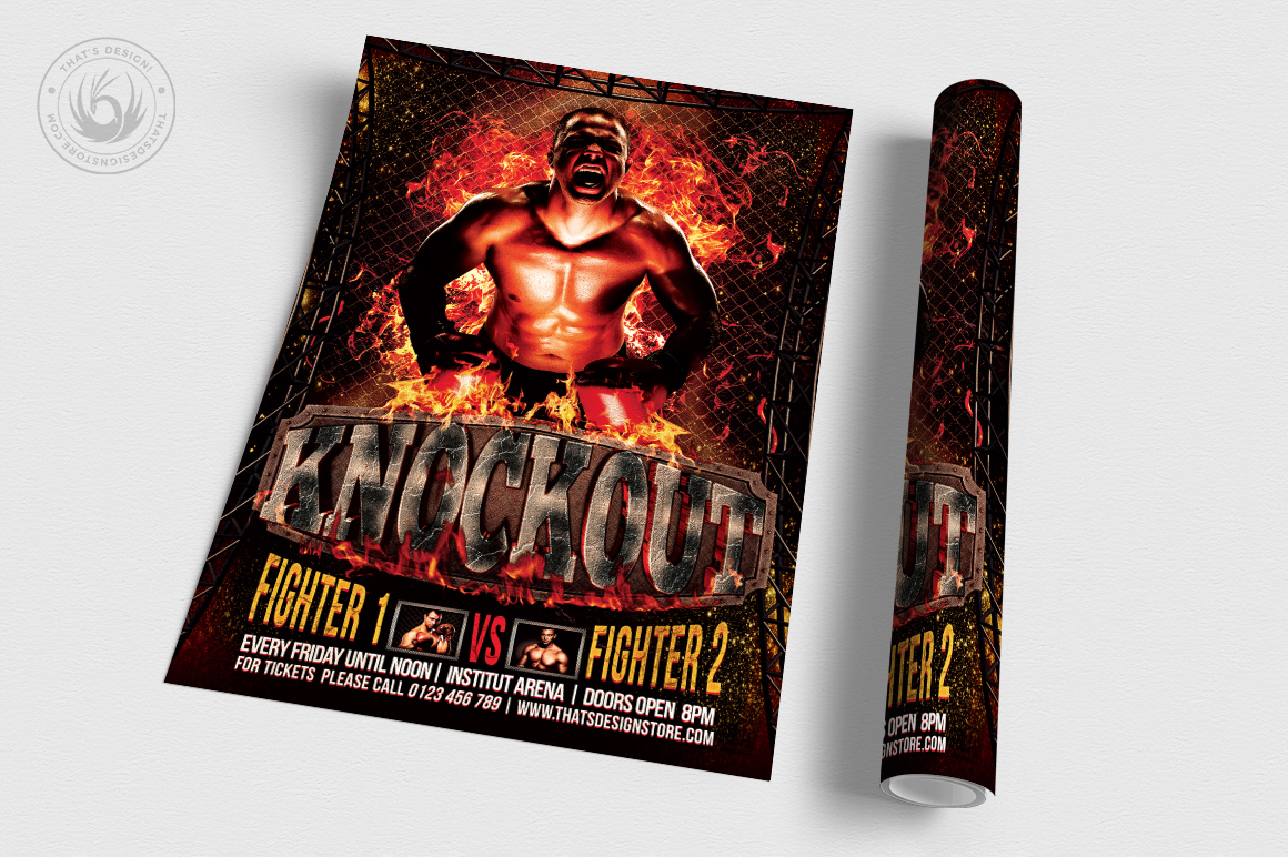 Fight Night Flyer Template V2 example image 3