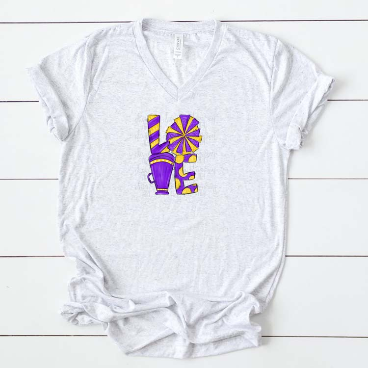 Cheer Love Powder Purple and Yellow example image 2