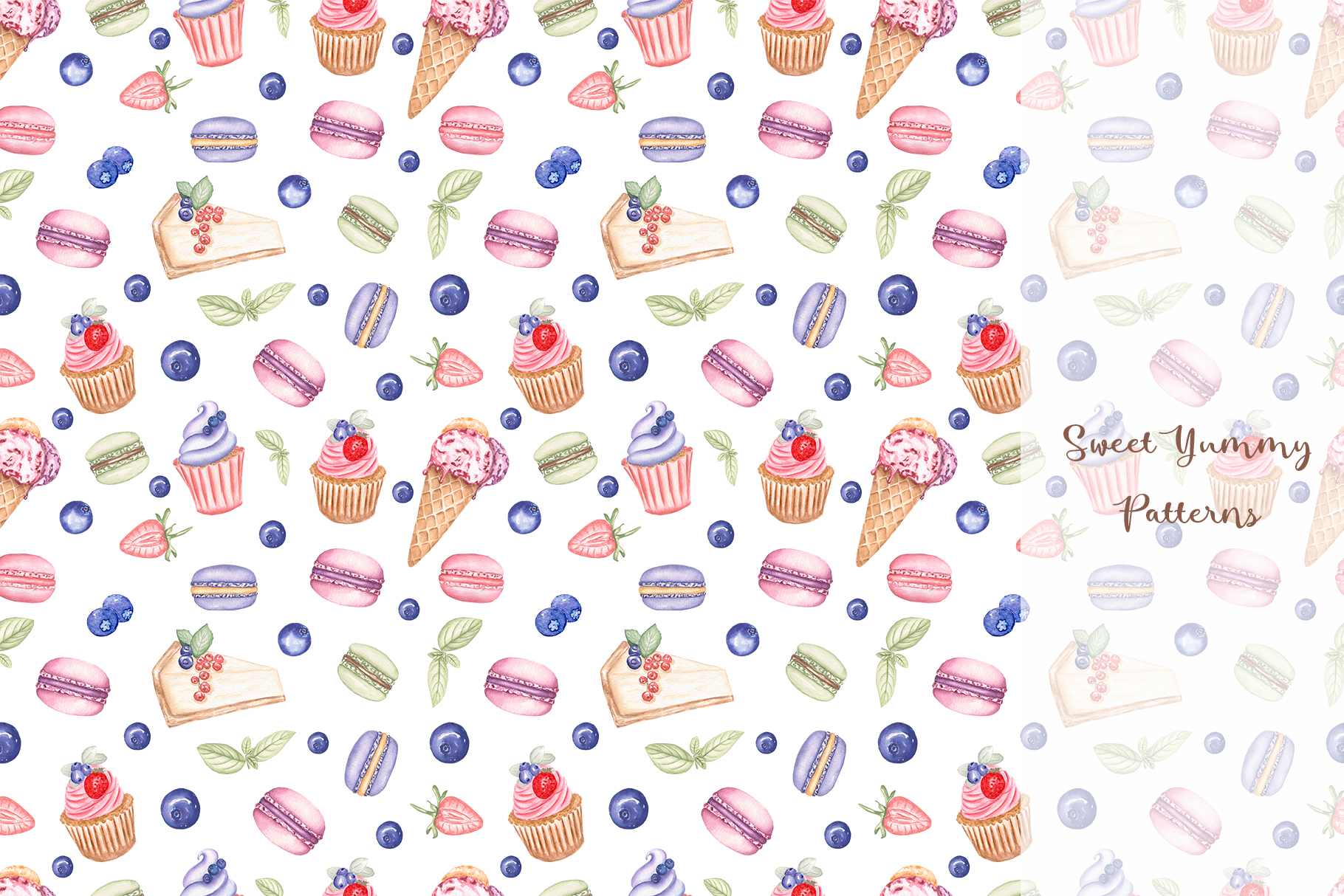 Sweet Yummy Patterns Collection example image 5