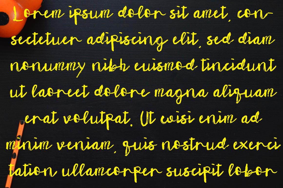 Wiqzi 7234 Font example image 2