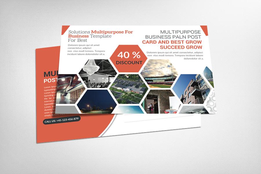 Multipurpose Business Postcard example image 1