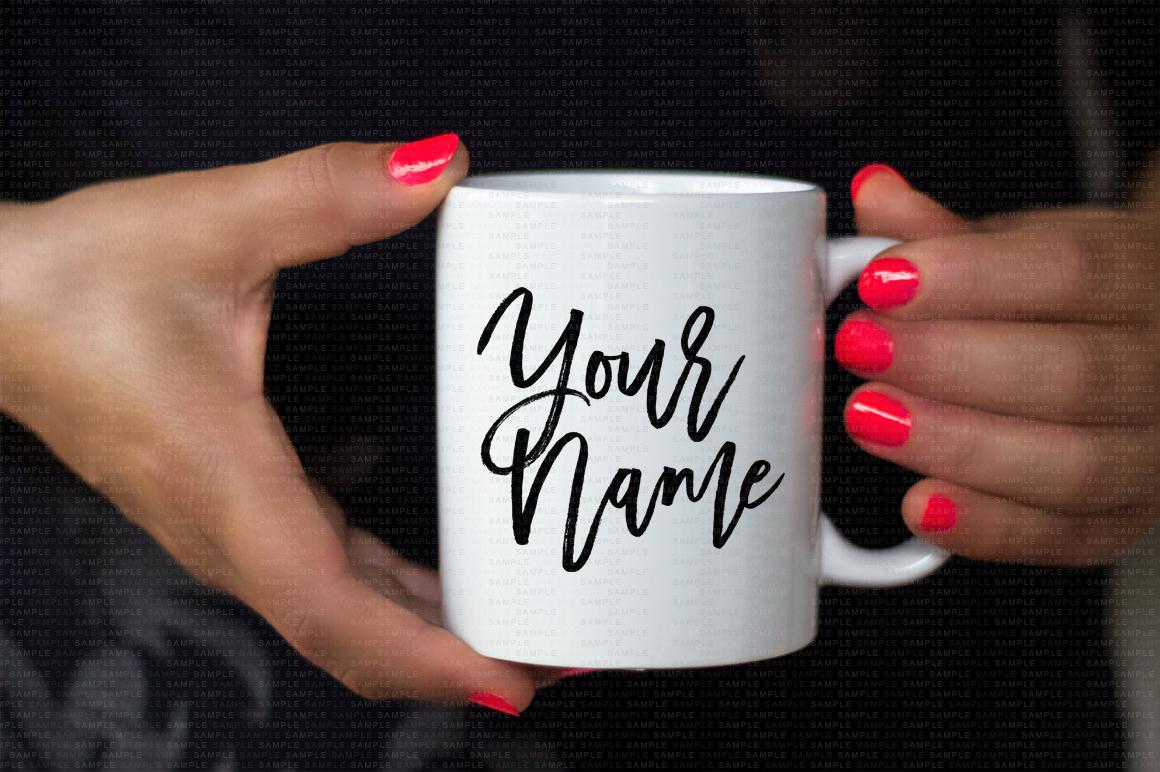 Hands Holding Mug Mockup Bundle example image 3