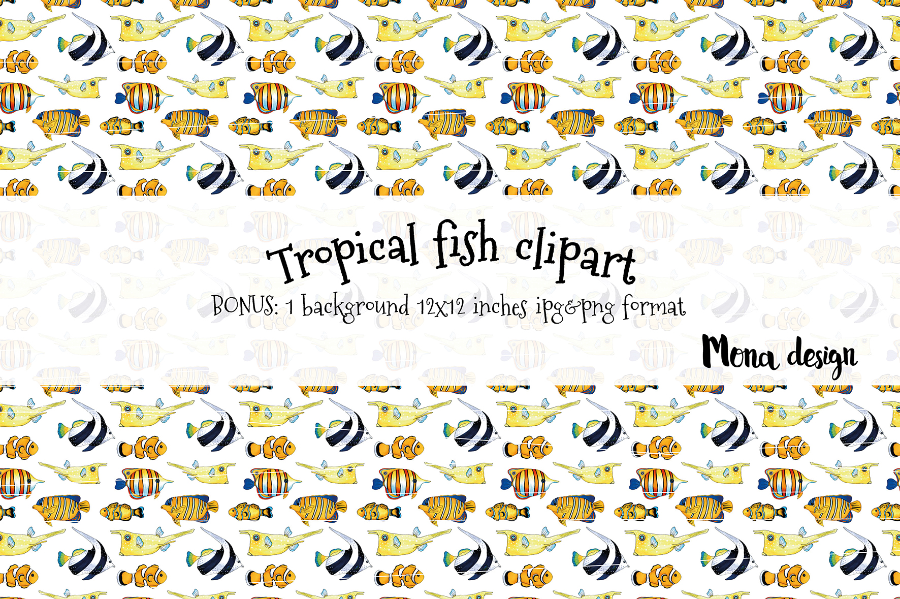Tropical fish set example image 2