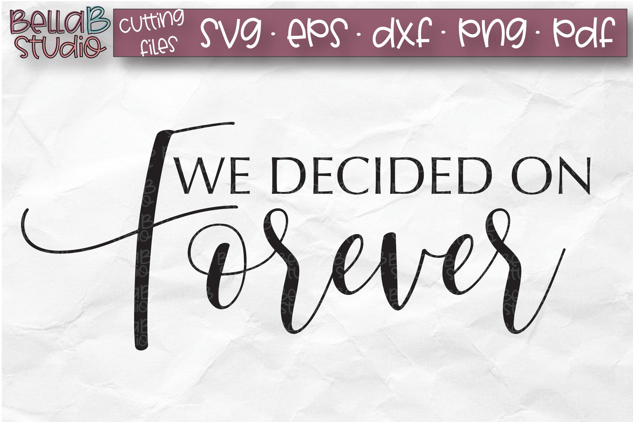 Wedding Sign SVG, We Decided On Forever SVG File example image 2