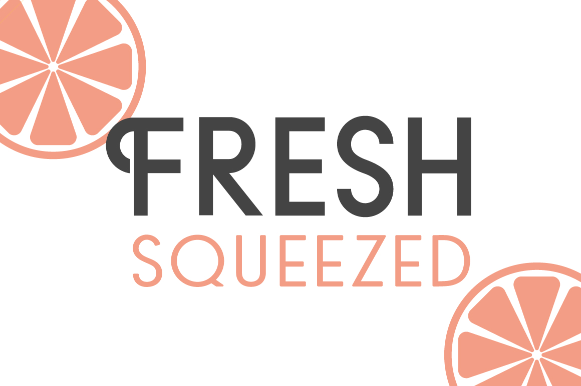 Fresh Squeezed Font Duo example image 1