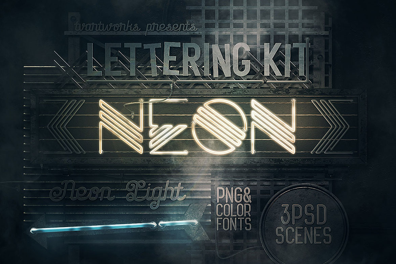 Neon Light Lettering Kit example image 2