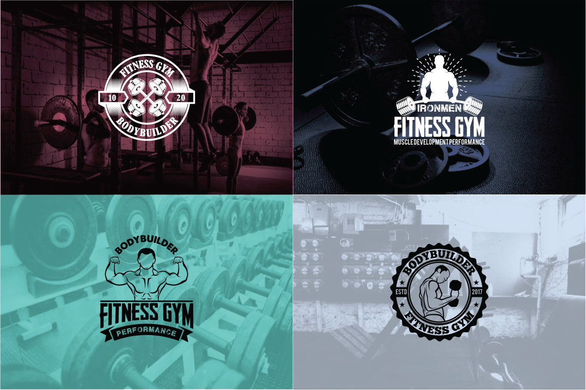 83 fitness gym bundle Logos Labels & Badges example image 20