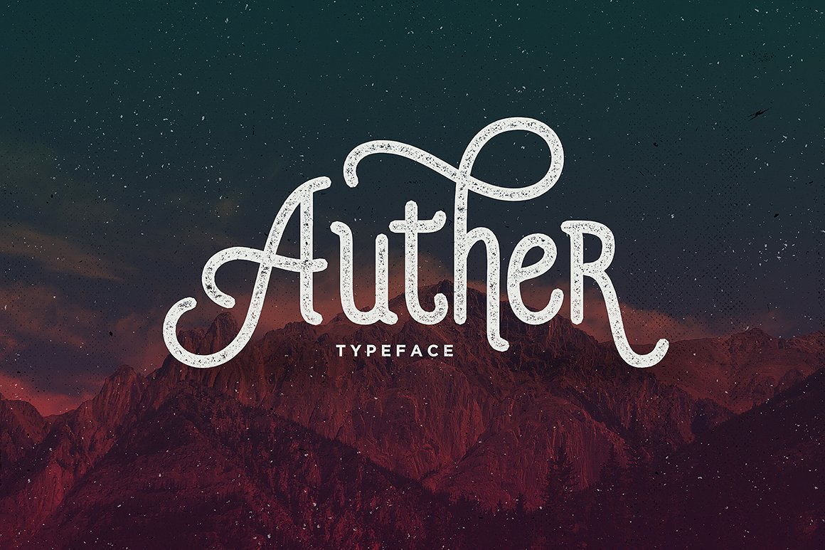 Auther Typeface example image 1