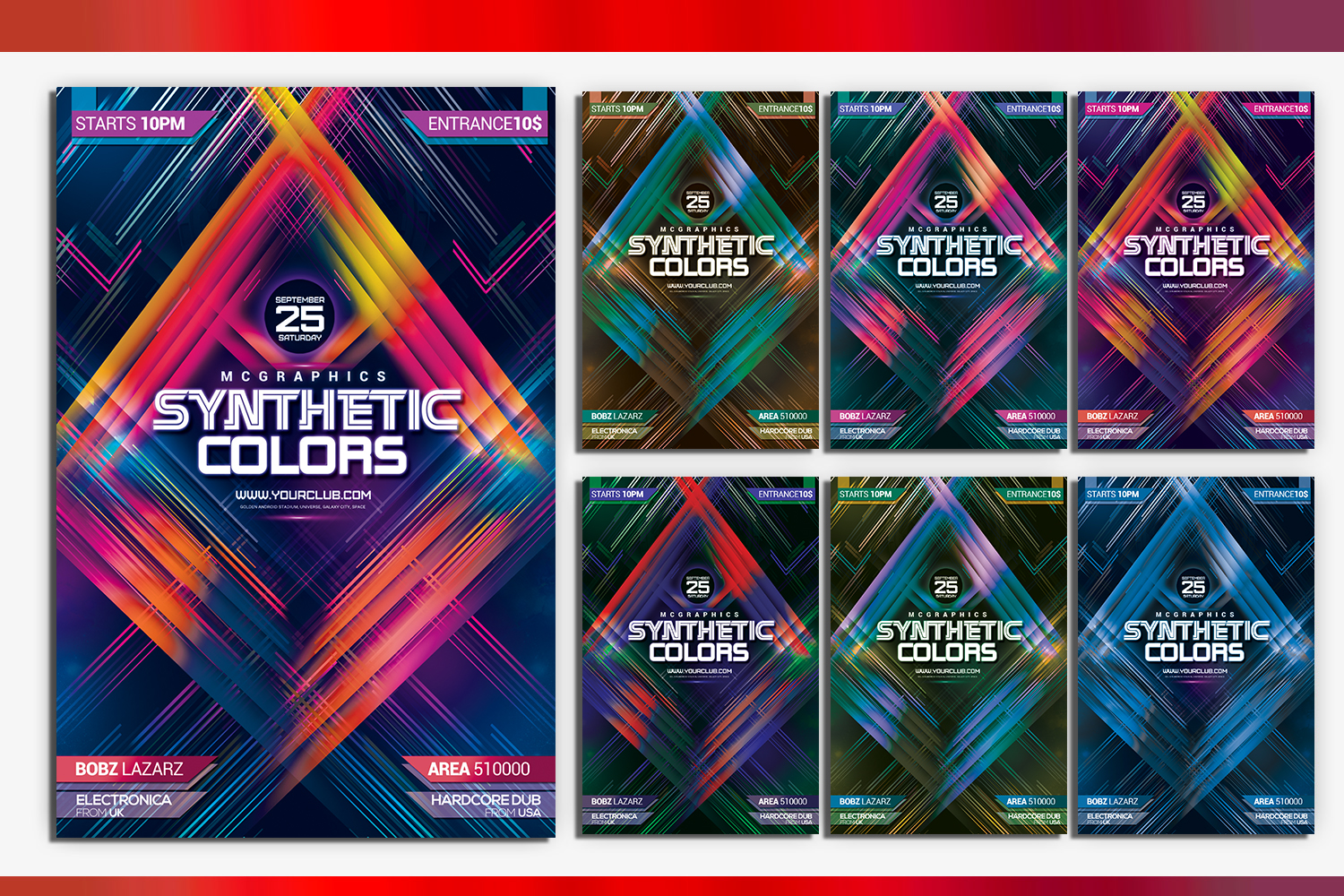 Synthetic Colors Flyer Template example image 1