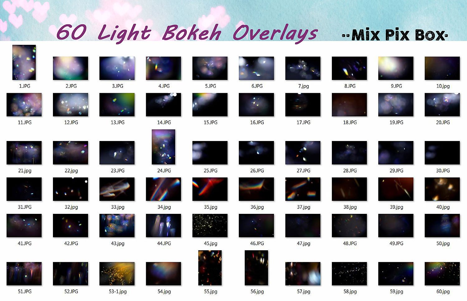 60 Light Bokeh Overlays example image 5