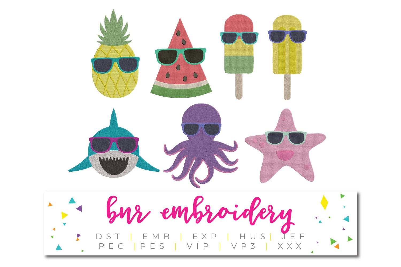 Summer Machine Embroidery Bundle example image 1