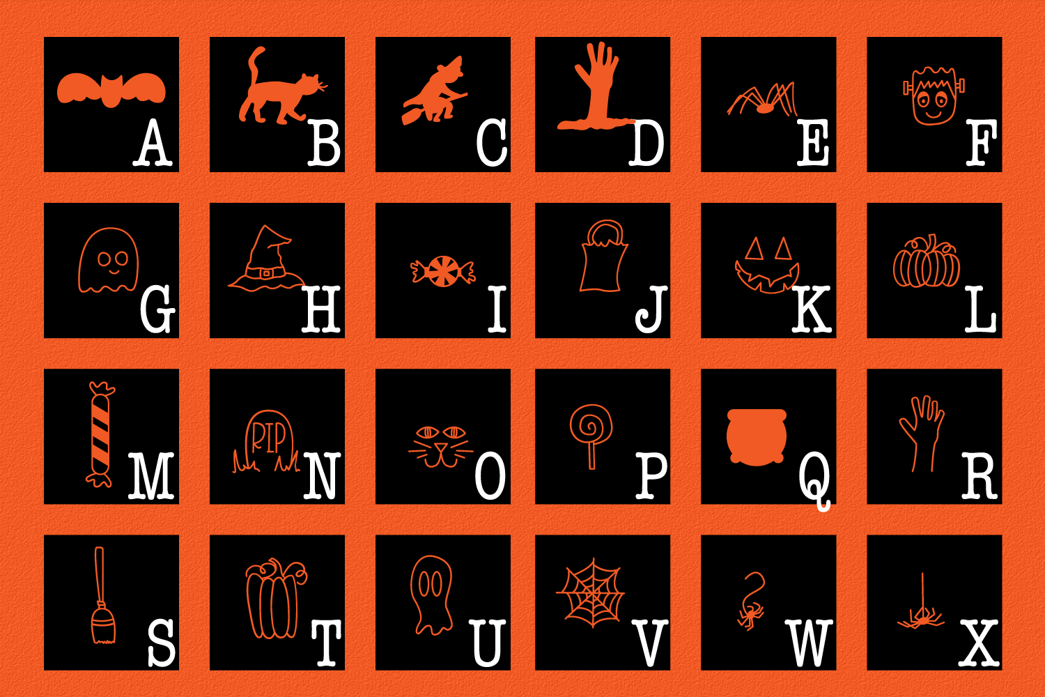 Spooky Squad - A Halloween Dingbat Font example image 6