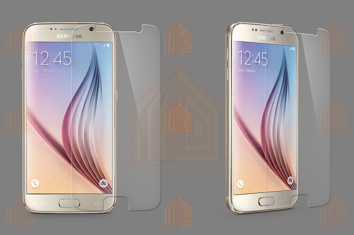 Samsung Galaxy S6 Tempered Glass Template  example image 2