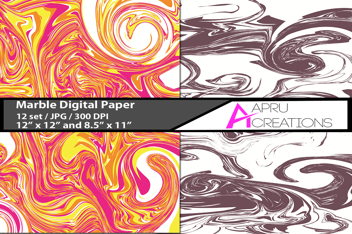Marble papers, marble pattern, marble backgrounds example image 2