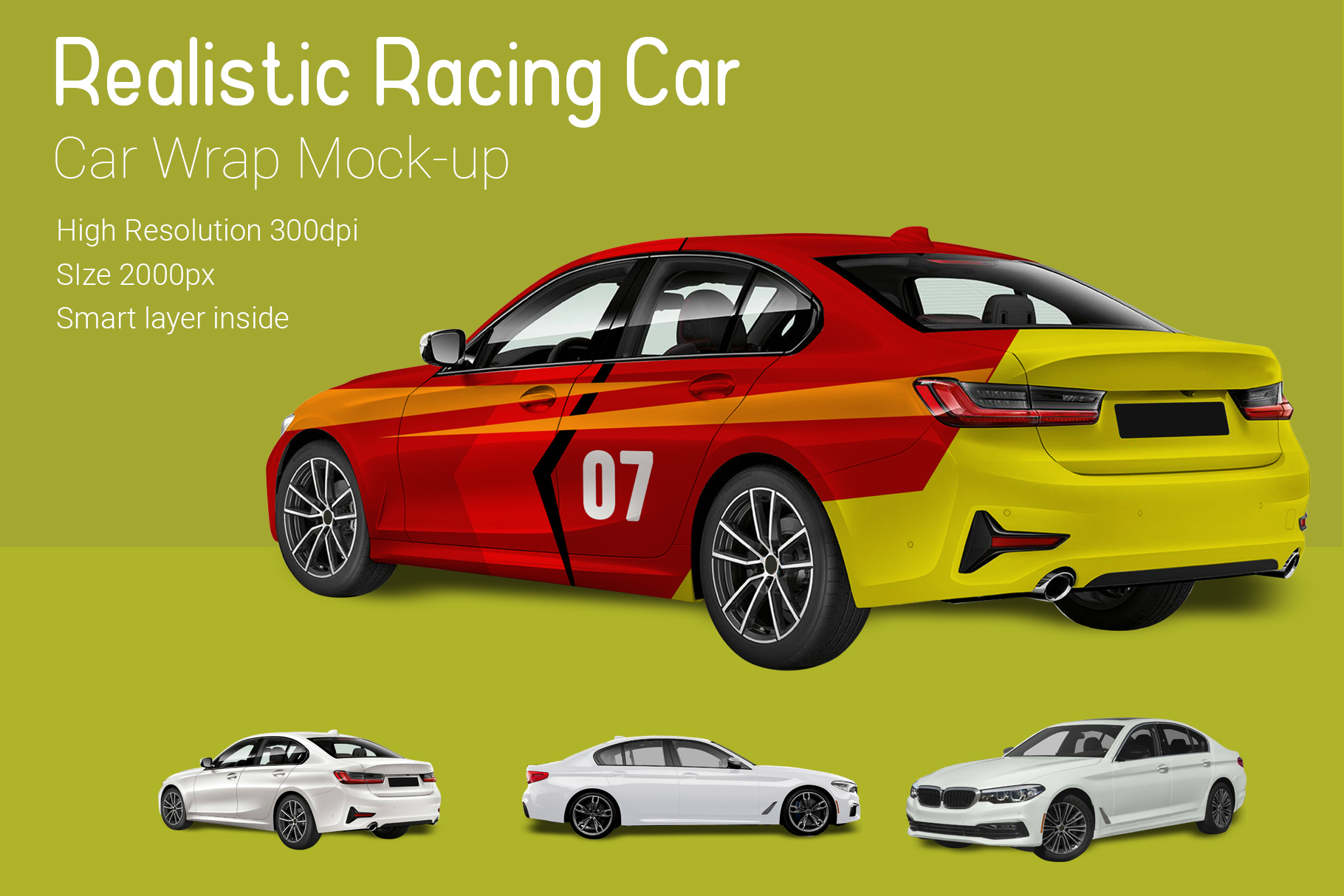 Racing Car Mock-Up example image 2