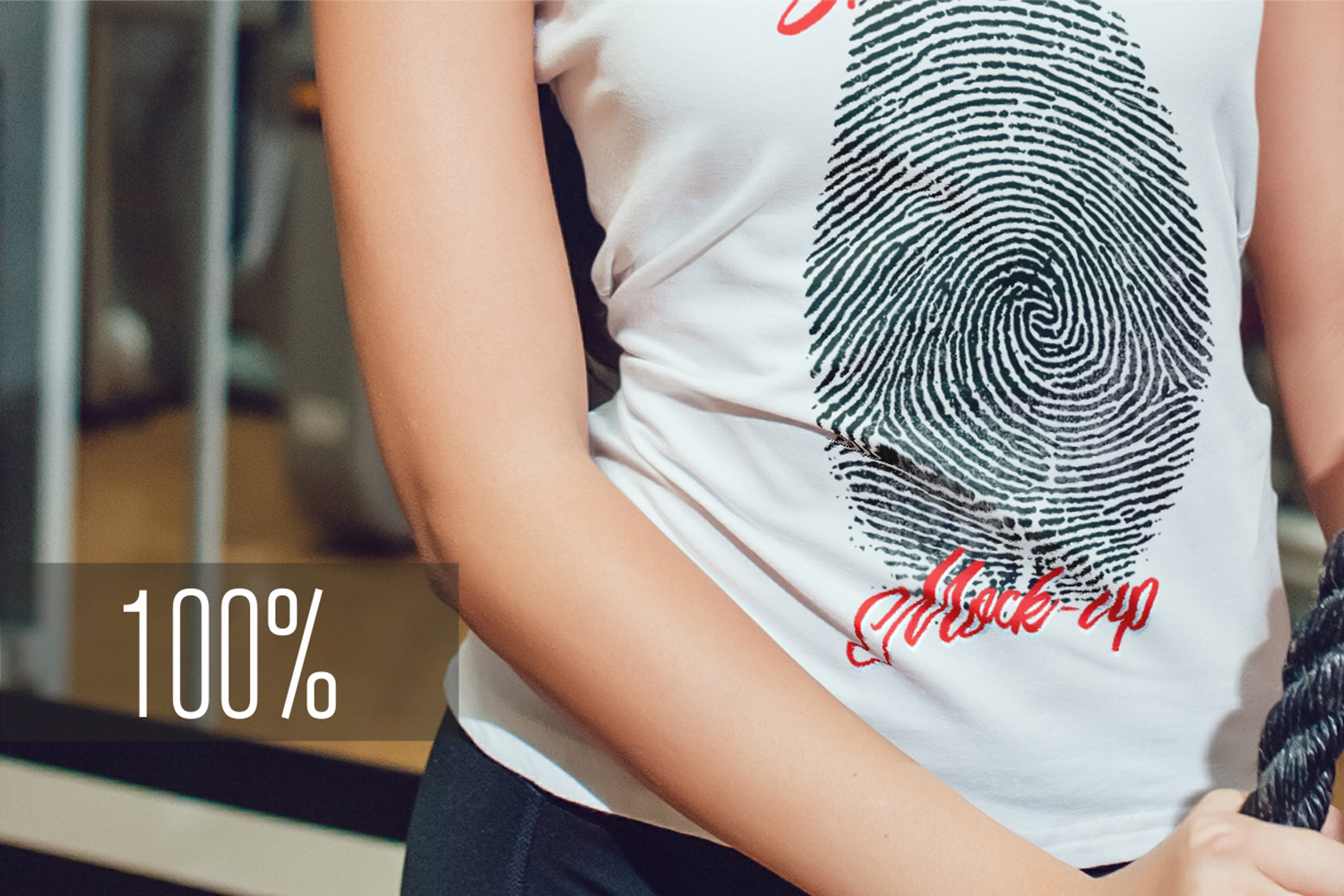 Asian Girl Sport T-Shirt Mock-Up example image 8