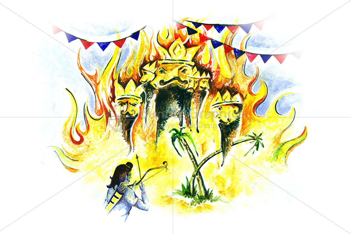 Painting of Dussehra Festival example image 1
